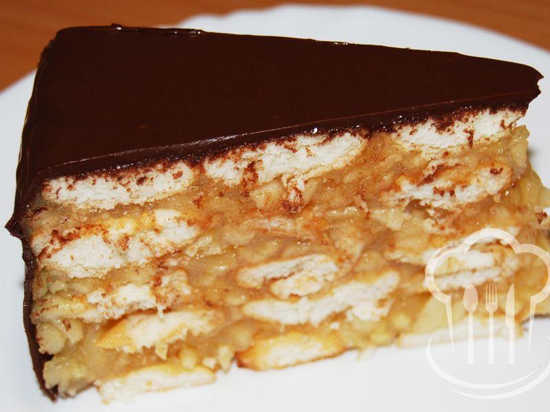 Torta - nepečená jablková