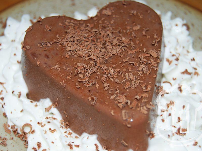 Panna cotta - čokoládová
